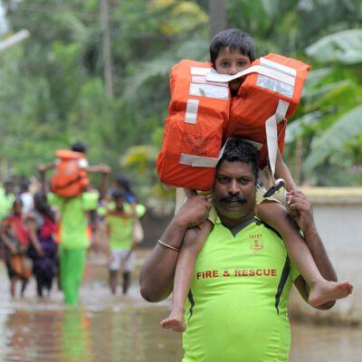 Flutkatastrophe in Indien Foto: Manjunath Kiran, APA picturedesk.com