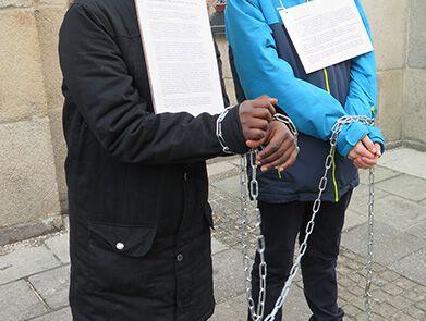 Aktionstag für die Opfer von Menschenhandel