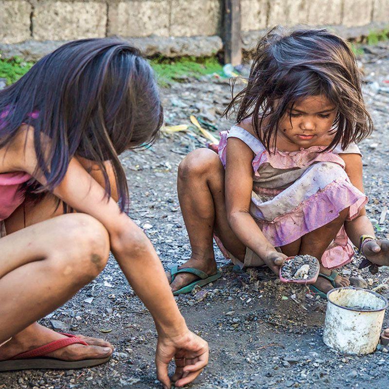 Die Armen im Visier Manila
