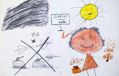 Zeichnung eines irakischen Kindes