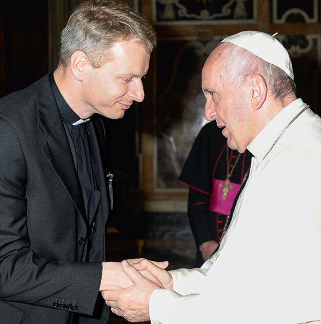 Pater Leopold mit Papst Franziskus