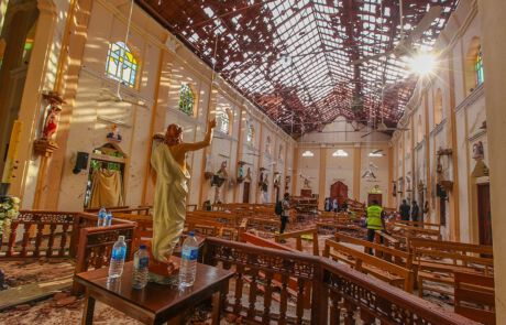 Kirche nach Siri Lanka nach Terror Anschlag