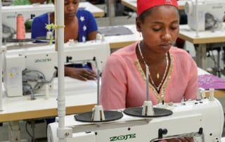 äthiopische Näherinnen in der Ausbildung