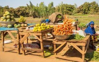 Gemüseverkäuferin in Burkina Faso