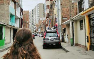 in den Straßen Perus