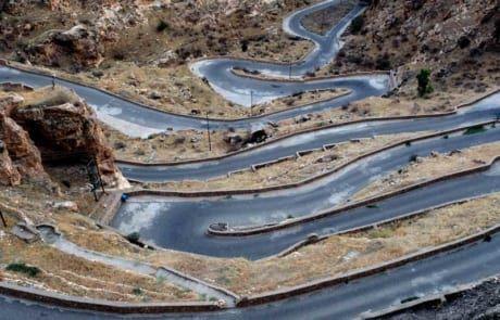 Bergstraße in der Autonomen Region Kurdistan