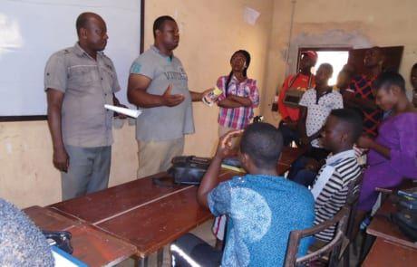 Unterricht mit Berufsausbildung in Nigeria