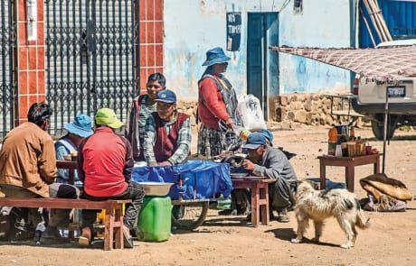 Einwohner in Bolivien