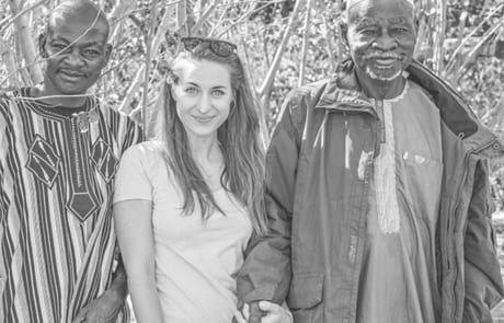 Missio Reporterin Lena Hallwirth, Yacouba und Omar Sawadogo
