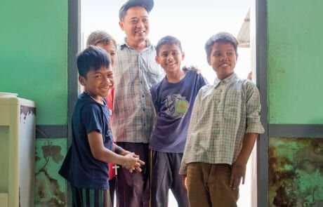 Ehemalige Straßenkinder im Don Bosco Jugendzentrum.