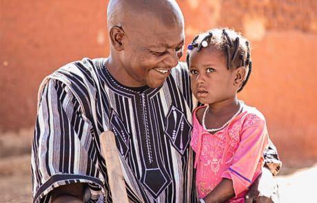 Mariétou und ihr Vater Omar