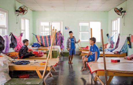 Der Schlafsaal im Don Bosco Zentrum für Straßenkinder.