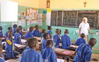 Mariangela als Lehrerin in einer senegalischen Schule