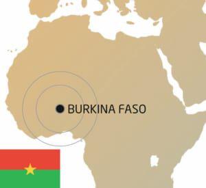 Standort von Burkina Faso