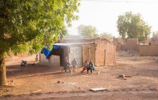 Vier Männer in Burkina Faso