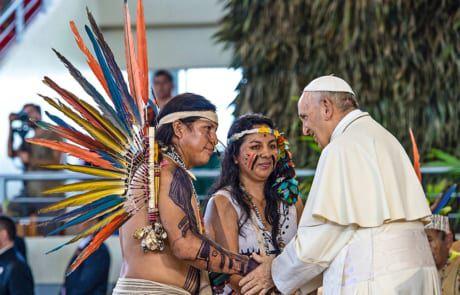 Papst Franziskus unterstützt die Indegenen Völker © Vatican Media