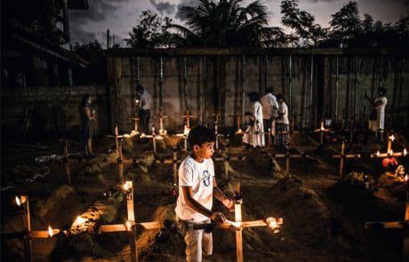 der neuerbaute Friedhof in Sri Lanka für die 115 Märtyrer