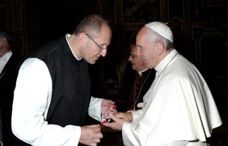 Pater Karl Wallner trifft Papst Franziskus
