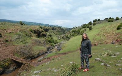 Frau in einer Landschaft