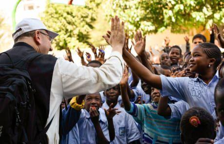 Pater Karl Wallner im Senegal