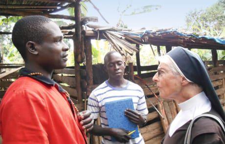 Schwester Margit hat immer ein offenes Ohr für die Anliegen der Menschen.