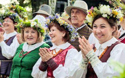 Traditionelles Fest in Litauen