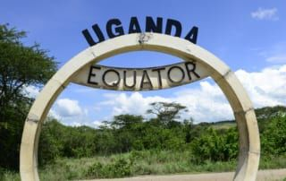 Äquator in Kasese, Uganda