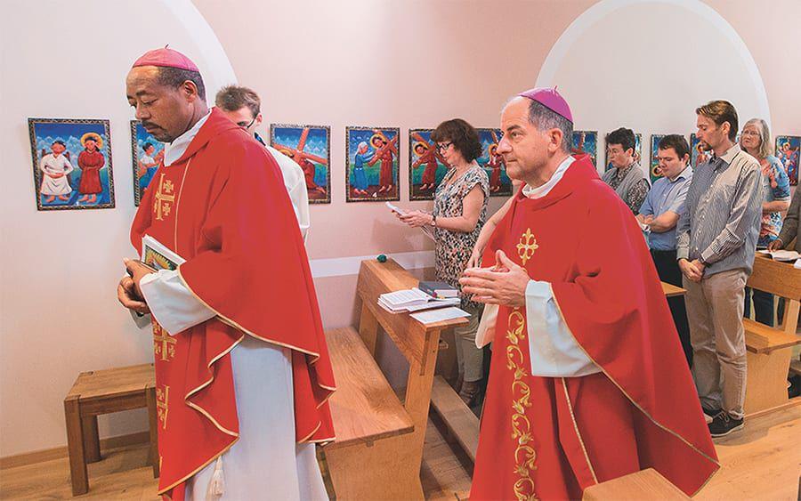 Feier der Heiligen Messe in der Nationaldirektion von Missio Österreich.