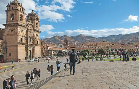 Platz in der Stadt Cusco