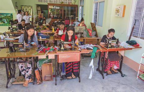 Schneiderei in Myanmar