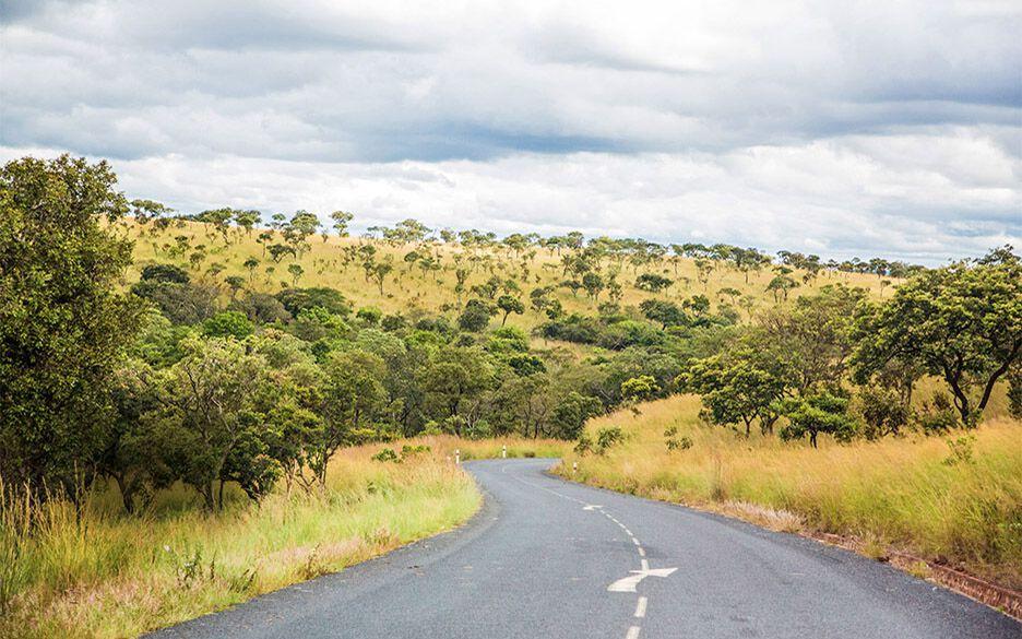 Straße und Landschaft in Burundi
