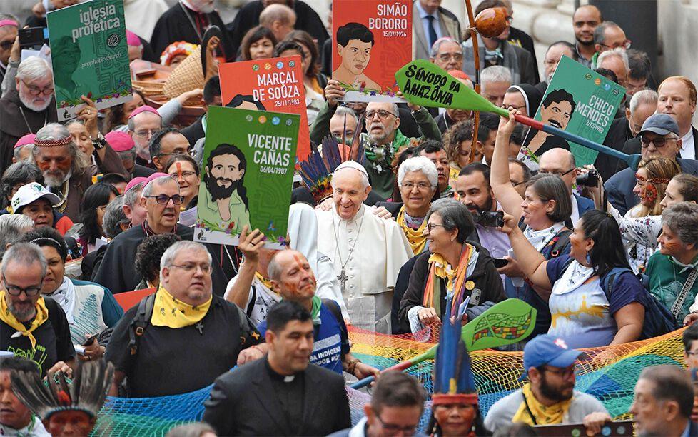 Papst Franziskus bei der Amazonien-Synode