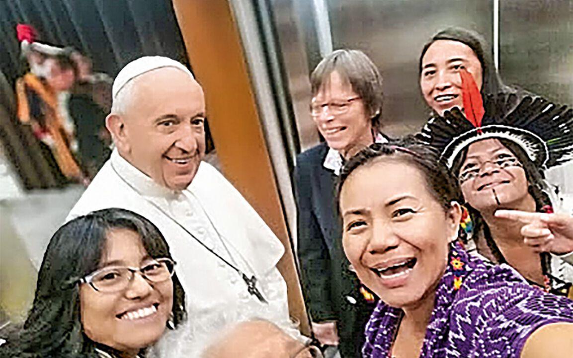 Selfie mit Papst Franziskus