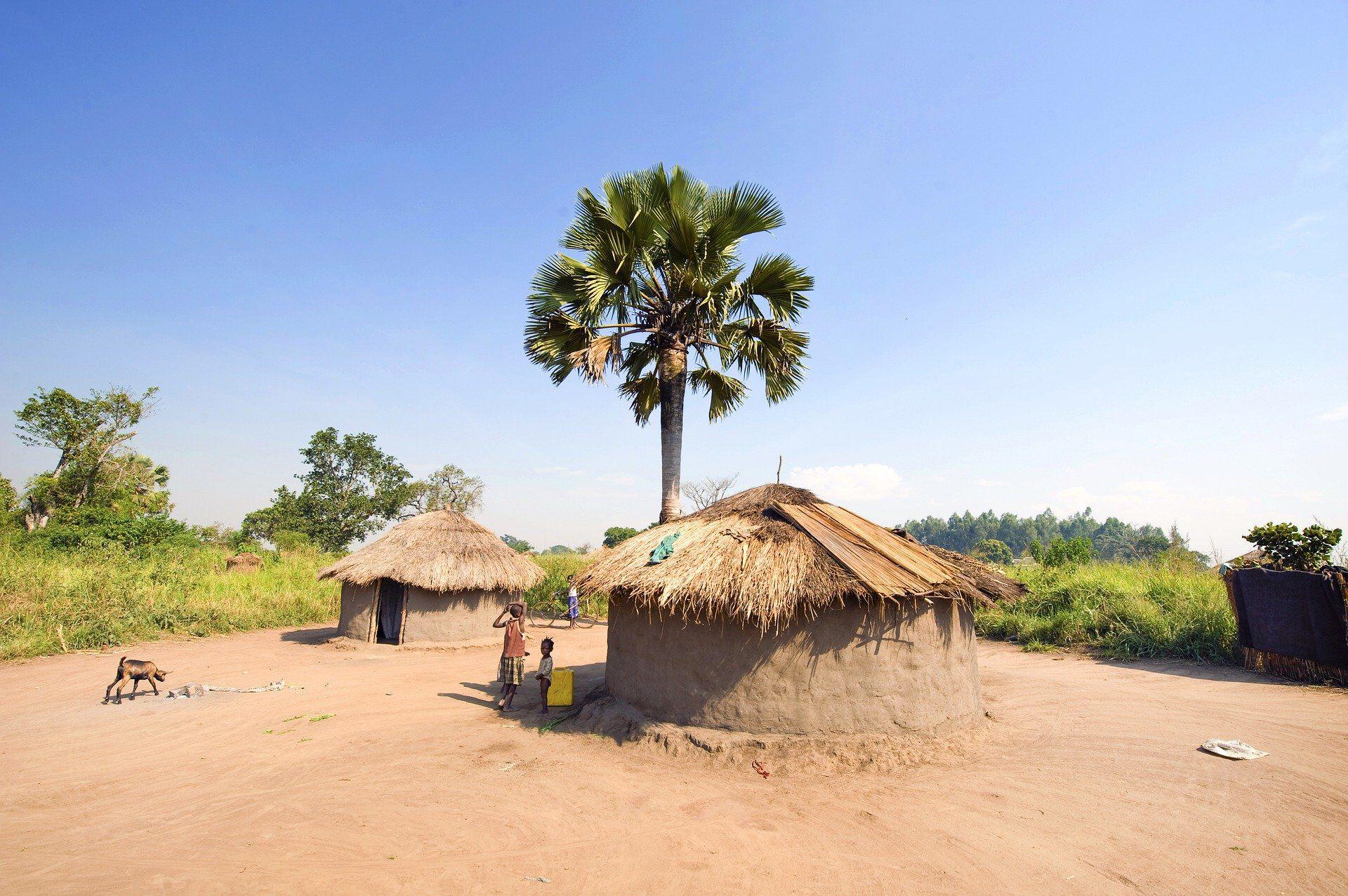 Zwei traditionelle Häuser