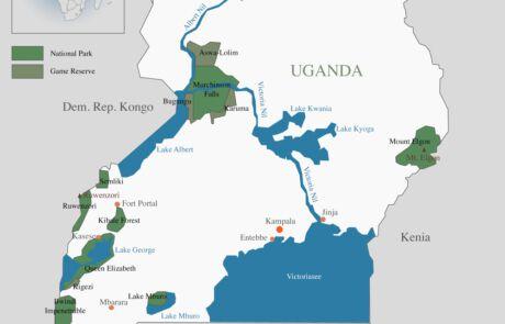 Karte Ugandas
