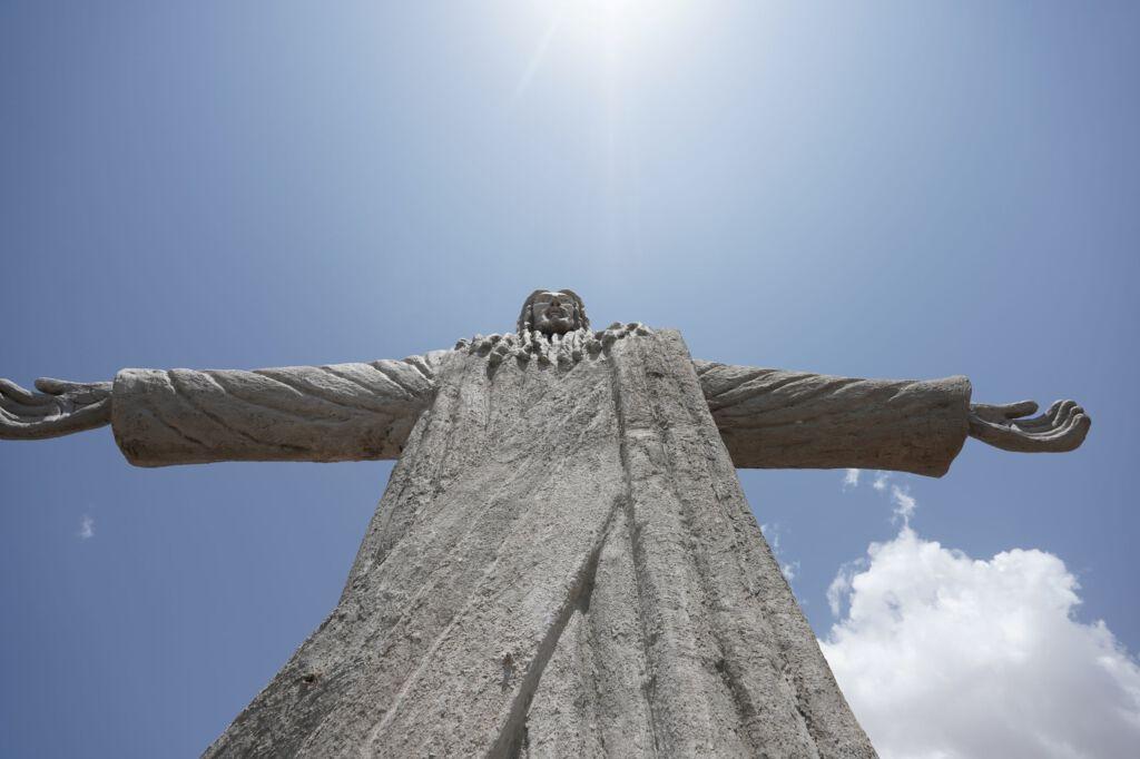 Christusstatue in Kenia