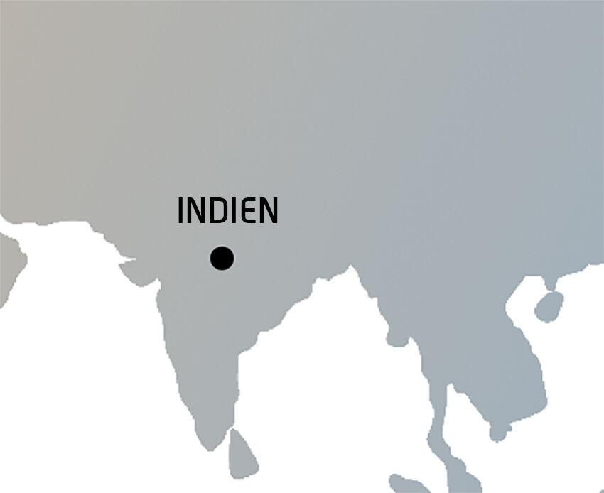 Indien Weltkarte