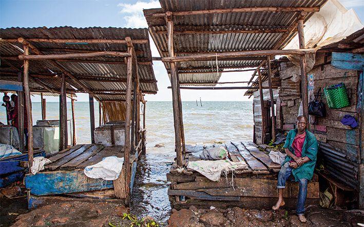 Eine Anlegestelle nahe der Stadt Entebbe