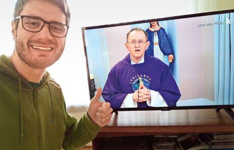 begeisterter Fan vom Livestream