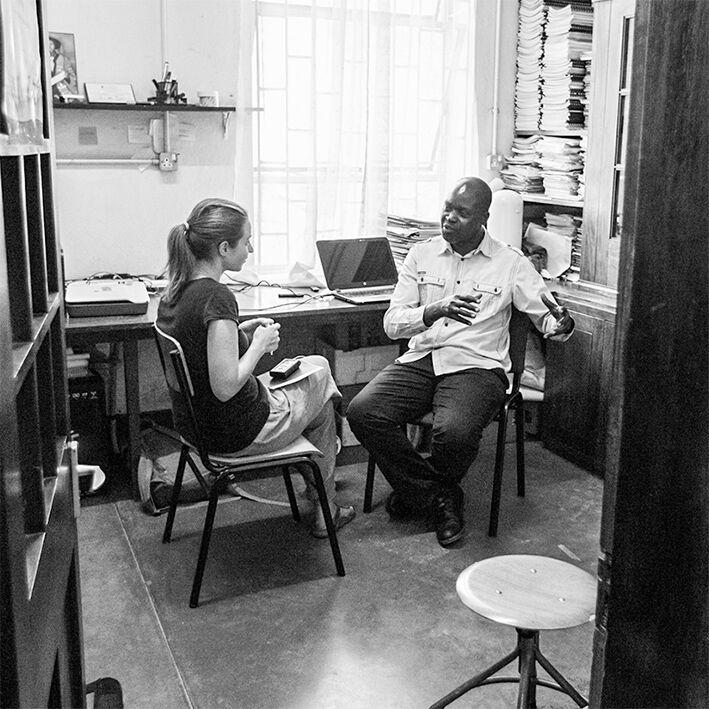 Lena Hallwirth im Gespräch mit Robinson Odong