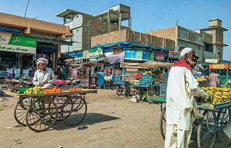 pakistanischer Straßenmarkt