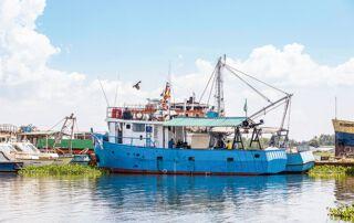 Ein Fischerboot am Victoriasee