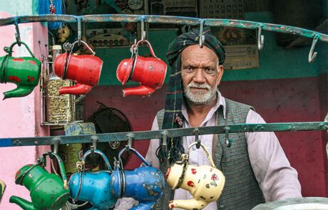 ein Teegeschäft in Pakistan