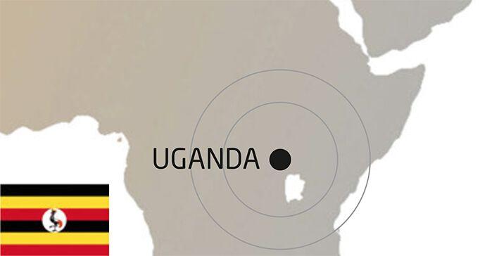 Uganda Weltkarte