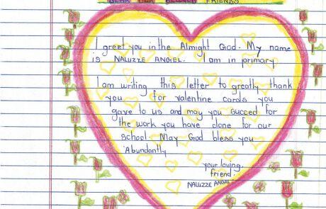 Brief von einem Kind