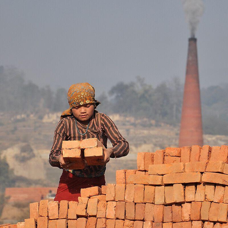 Ziegelfabrik Nepal