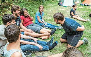 Beim ersten Camp von The Upper Room in Österreich standen verrückte Spiele…
