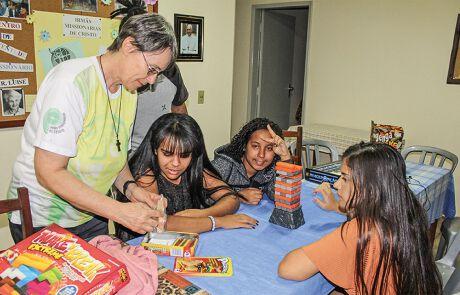Treffen in einem Jugendzentrum