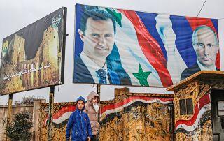 Staatschef Assad konnte sich dank Waffenhilfe durch Russlands Präsident Putin an der Macht halten.