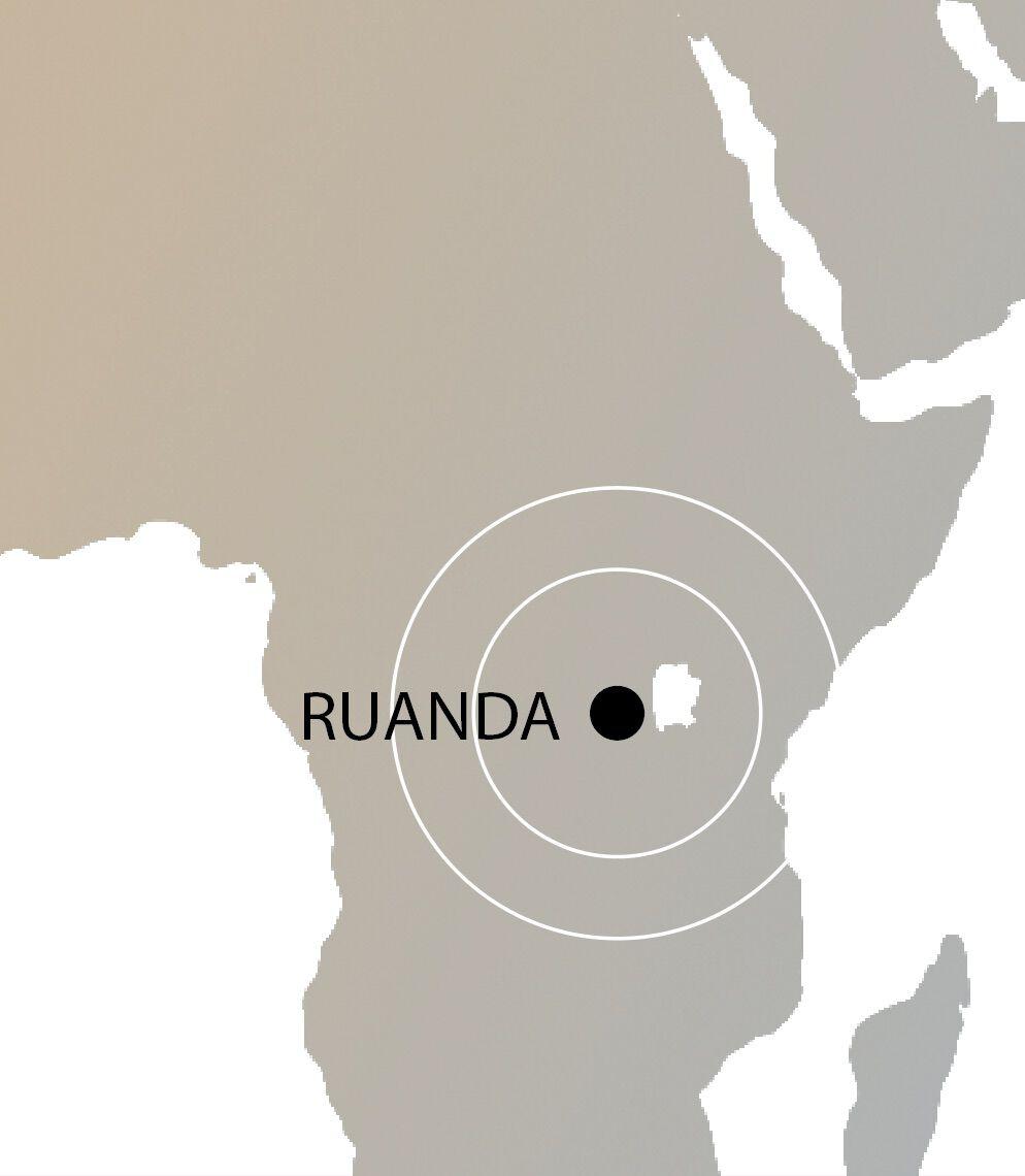 Ruanda Weltkarte